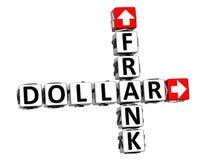 ο τρισδιάστατος Frank Dollar Crossword Στοκ εικόνα με δικαίωμα ελεύθερης χρήσης