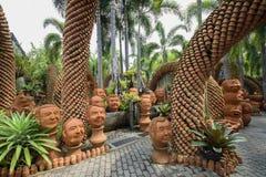 Ο τροπικός βοτανικός κήπος NongNooch Στοκ Εικόνες