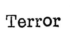 Ο τρόμος ` λέξης ` από μια γραφομηχανή στο λευκό στοκ φωτογραφίες με δικαίωμα ελεύθερης χρήσης