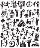 Ο τρόπος ζωής ανθρώπων doodles έθεσε Στοκ εικόνες με δικαίωμα ελεύθερης χρήσης