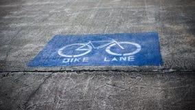 Ο τρόπος παρόδων ποδηλάτων Στοκ Εικόνα
