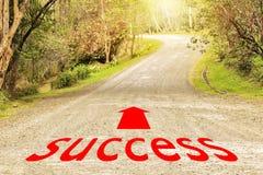 Ο τρόπος στην επιτυχία, τα βέλη και οι επιστολές δημιουργούνται στοκ φωτογραφία με δικαίωμα ελεύθερης χρήσης