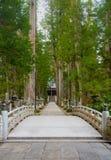 Ο τρόπος στο νεκροταφείο Kayasan, Wakayama Ιαπωνία Okunoin Στοκ Φωτογραφία
