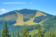 Ο τρόπος στο Grosser Arber, ένα βουνό στη Βαυαρία, Γερμανία Στοκ φωτογραφίες με δικαίωμα ελεύθερης χρήσης