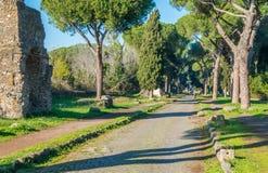 Ο τρόπος Appia Antica Appian στη Ρώμη Στοκ Φωτογραφία