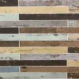 Ο τρύγος που στενοχωρήθηκε χρωμάτισε την ξύλινη slats σύσταση υποβάθρου Στοκ εικόνα με δικαίωμα ελεύθερης χρήσης