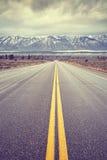 Ο τρύγος τόνισε το φυσικό δρόμο στο μεγάλο εθνικό πάρκο Teton, ΗΠΑ Στοκ φωτογραφία με δικαίωμα ελεύθερης χρήσης