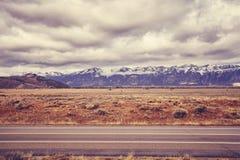 Ο τρύγος τόνισε το φυσικό δρόμο στο μεγάλο εθνικό πάρκο Teton, ΗΠΑ Στοκ εικόνα με δικαίωμα ελεύθερης χρήσης