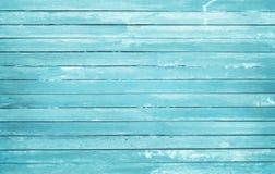 Ο τρύγος χρωμάτισε το ξύλινο υπόβαθρο τοίχων, σύσταση του μπλε χρώματος κρητιδογραφιών με τα φυσικά σχέδια για την εργασία τέχνης στοκ εικόνα