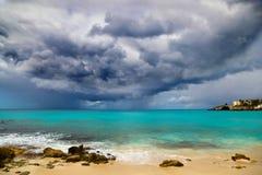 Ο τυφώνας πλησιάζει τις Καραϊβικές Θάλασσες Στοκ φωτογραφία με δικαίωμα ελεύθερης χρήσης