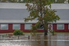 Ο τυφώνας Φλωρεντία φέρνει τα νερά πλημμύρας στοκ εικόνες με δικαίωμα ελεύθερης χρήσης