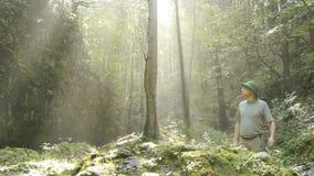 Ο τυχοδιώκτης πηγαίνει ζούγκλα απόθεμα βίντεο