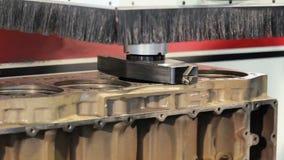 Ο τόρνος δεν τρέχει Επιστροφές στην αρχική θέση του Διαδικασία επισκευής φραγμών μηχανών Ηλεκτρονικός τόρνος απόθεμα βίντεο