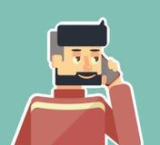 Ο τύπος μιλά στο τηλέφωνο Στοκ εικόνα με δικαίωμα ελεύθερης χρήσης