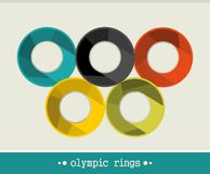 Ολυμπιακά δαχτυλίδια. διανυσματική απεικόνιση