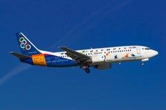 Ολυμπιακές αερογραμμές Boeing 737 Στοκ Εικόνες