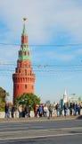 Ολυμπιακή άφιξη φλογών στη Μόσχα Στοκ Φωτογραφίες