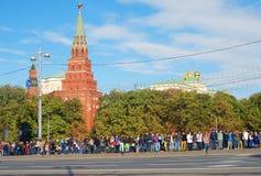 Ολυμπιακή άφιξη φλογών στη Μόσχα Στοκ φωτογραφία με δικαίωμα ελεύθερης χρήσης