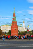 Ολυμπιακή άφιξη φλογών στη Μόσχα Στοκ Φωτογραφία
