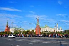 Ολυμπιακή άφιξη φλογών στη Μόσχα Στοκ Εικόνες