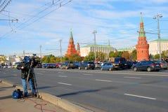 Ολυμπιακή άφιξη φλογών στη Μόσχα Στοκ Εικόνα