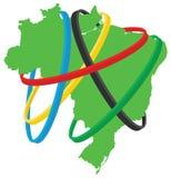 Ολυμπιακοί Αγώνες της Βραζιλίας ελεύθερη απεικόνιση δικαιώματος
