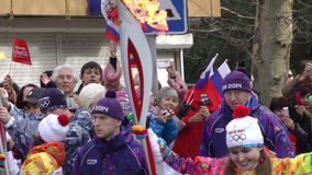 Ολυμπιακός ηλεκτρονόμος φανών στη Ρωσία, Sochi 2014 απόθεμα βίντεο