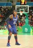 Ολυμπιακός πρωτοπόρος Carmelo Anthony της ομάδας ΗΠΑ στη δράση κατά τη διάρκεια της αντιστοιχίας καλαθοσφαίρισης ομάδας Α μεταξύ  Στοκ εικόνες με δικαίωμα ελεύθερης χρήσης