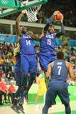 Ολυμπιακός πρωτοπόρος Carmelo Anthony της ομάδας ΗΠΑ στη δράση κατά τη διάρκεια της αντιστοιχίας καλαθοσφαίρισης ομάδας Α μεταξύ  Στοκ Εικόνα