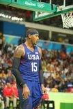 Ολυμπιακός πρωτοπόρος Carmelo Anthony της ομάδας ΗΠΑ στη δράση κατά τη διάρκεια της αντιστοιχίας καλαθοσφαίρισης ομάδας Α μεταξύ  Στοκ φωτογραφίες με δικαίωμα ελεύθερης χρήσης