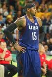Ολυμπιακός πρωτοπόρος Carmelo Anthony της ομάδας ΗΠΑ στη δράση κατά τη διάρκεια της αντιστοιχίας καλαθοσφαίρισης ομάδας Α μεταξύ  Στοκ Φωτογραφία