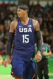 Ολυμπιακός πρωτοπόρος Carmelo Anthony της ομάδας ΗΠΑ στη δράση στην αντιστοιχία καλαθοσφαίρισης ομάδας Α μεταξύ της ομάδας ΗΠΑ κα Στοκ Εικόνες
