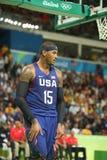 Ολυμπιακός πρωτοπόρος Carmelo Anthony της ομάδας ΗΠΑ στη δράση στην αντιστοιχία καλαθοσφαίρισης ομάδας Α μεταξύ της ομάδας ΗΠΑ κα Στοκ φωτογραφία με δικαίωμα ελεύθερης χρήσης