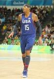 Ολυμπιακός πρωτοπόρος Carmelo Anthony της ομάδας ΗΠΑ στη δράση στην αντιστοιχία καλαθοσφαίρισης ομάδας Α μεταξύ της ομάδας ΗΠΑ κα Στοκ Εικόνα