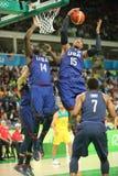 Ολυμπιακός πρωτοπόρος Carmelo Anthony της ομάδας ΗΠΑ στη δράση στην αντιστοιχία καλαθοσφαίρισης ομάδας Α μεταξύ της ομάδας ΗΠΑ κα Στοκ εικόνες με δικαίωμα ελεύθερης χρήσης