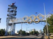 1996 ολυμπιακός πύργος φλογών Στοκ φωτογραφία με δικαίωμα ελεύθερης χρήσης