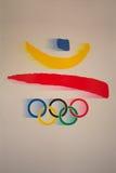 Ολυμπιακό έμβλημα παιχνιδιών της Βαρκελώνης λογότυπων Στοκ Εικόνες