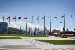 Ολυμπιακό πάρκο σε ΧΧΙΙ χειμερινούς Ολυμπιακούς Αγώνες Στοκ φωτογραφίες με δικαίωμα ελεύθερης χρήσης