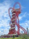 Ολυμπιακό πάρκο του Λονδίνου τροχιάς ArcelorMittal Στοκ εικόνες με δικαίωμα ελεύθερης χρήσης