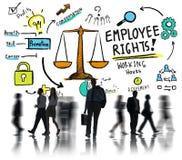 Ο υπάλληλος διορθώνει τον επιχειρησιακό κάτοχο διαρκούς εισιτήριου εργασίας ισότητας απασχόλησης Στοκ Φωτογραφία