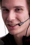 Ο υπάλληλος τηλεφωνικών κέντρων, κλείνει επάνω Στοκ φωτογραφίες με δικαίωμα ελεύθερης χρήσης