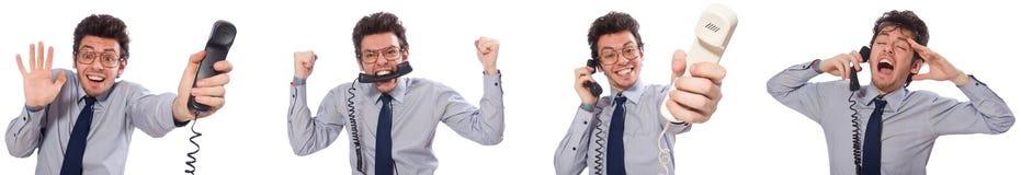 Ο 0 υπάλληλος τηλεφωνικών κέντρων στο κολάζ Στοκ Φωτογραφία