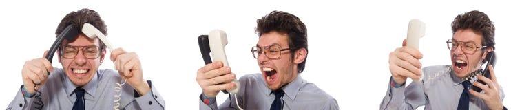 Ο 0 υπάλληλος τηλεφωνικών κέντρων στο κολάζ Στοκ φωτογραφία με δικαίωμα ελεύθερης χρήσης