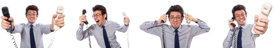 Ο 0 υπάλληλος τηλεφωνικών κέντρων στο κολάζ Στοκ εικόνες με δικαίωμα ελεύθερης χρήσης