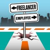 Ο υπάλληλος Freelancer καθοδηγεί ελεύθερη απεικόνιση δικαιώματος