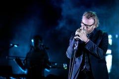 Ο υπήκοος (αμερικανική ανεξάρτητη δισκογραφική εταιρία ορχήστρα ροκ) στη συναυλία Στοκ Εικόνες
