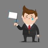 Ο λυπημένος επιχειρηματίας σταματά Στοκ Εικόνες