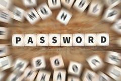 Ο υπολογιστής ασφάλειας κωδικού πρόσβασης προστατεύει τη προστασία δεδομένων χωρίζει σε τετράγωνα την επιχείρηση Στοκ Φωτογραφίες