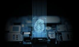 Ο υπολογιστής και το κινητό τηλεφωνικό σύστημα είναι προστατευμένοι το υλικό και εξασφαλισμένοι από τεχνητής νοημοσύνης chipset στοκ φωτογραφίες με δικαίωμα ελεύθερης χρήσης