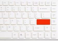 ο υπολογιστής κουμπιών εισάγει το κόκκινο λευκό πληκτρολογίων Στοκ εικόνες με δικαίωμα ελεύθερης χρήσης